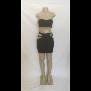 Tobi Size Medium Sexy Strapless Cut-Out Mini Dress